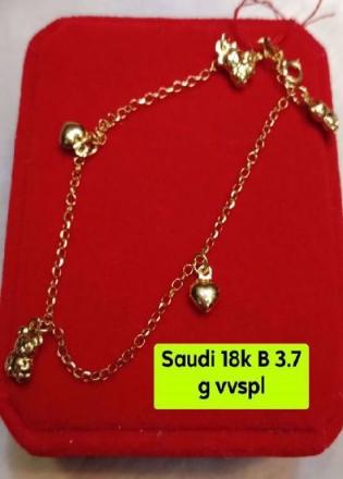 Picture of 18K - Saudi Gold Jewelry, Bracelet - 3.7G