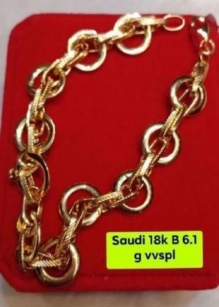 Picture of 18K - Saudi Gold Jewelry, Bracelet - 6.1G
