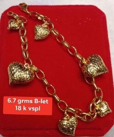 Picture of 18K - Saudi Gold Jewelry, Bracelet - 6.7G