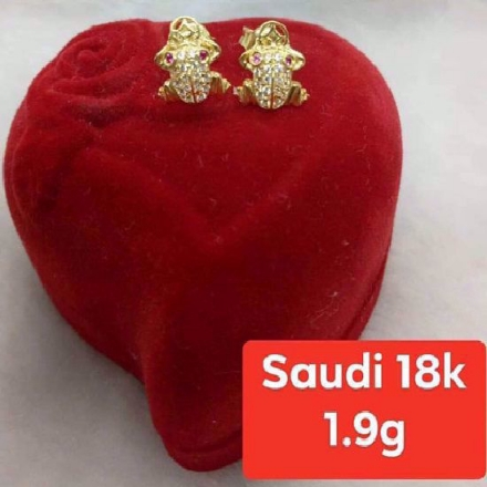 Picture of 18K - Saudi Gold Jewelry, Earrings - 1.9g