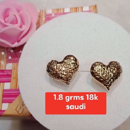 Picture of 18K - Saudi Gold Jewelry, Earrings - 1.8g