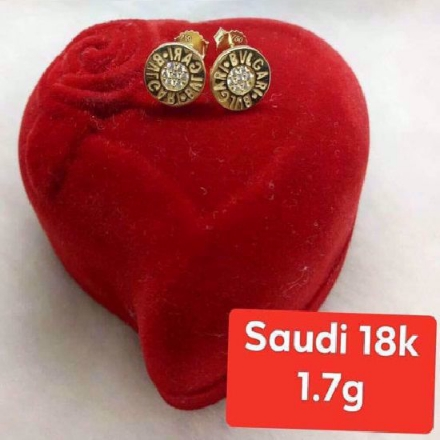 Picture of 18K - Saudi Gold Jewelry, Earrings - 1.7g