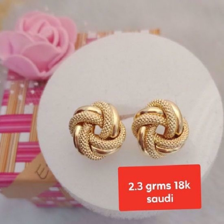 Picture of 18K - Saudi Gold Jewelry, Earrings - 2.3.g