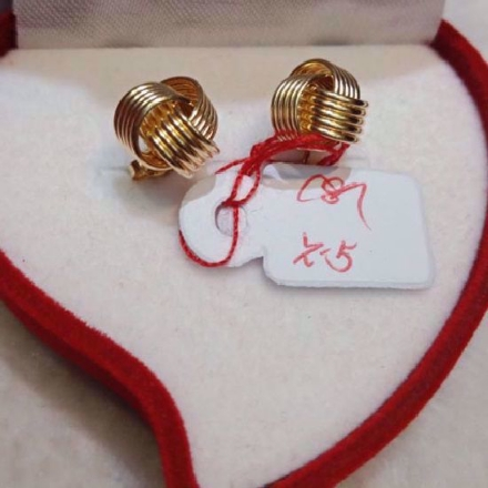 Picture of 18K - Saudi Gold Jewelry, Earrings - 2.5g