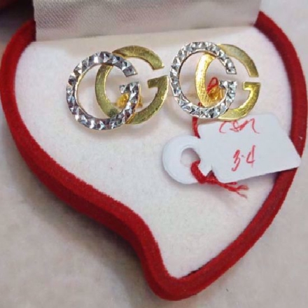 Picture of 18K - Saudi Gold Jewelry, Earrings - 3.4g