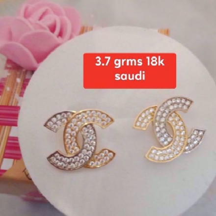 Picture of 18K - Saudi Gold Jewelry, Earrings - 3.7g