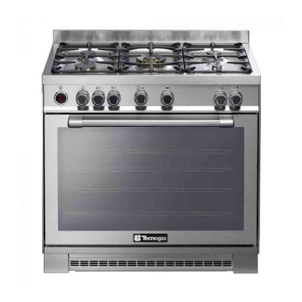 Picture of 5 Gas Burners With 5 kW Wok Burner and Stainless Steel NGIX96M5VC