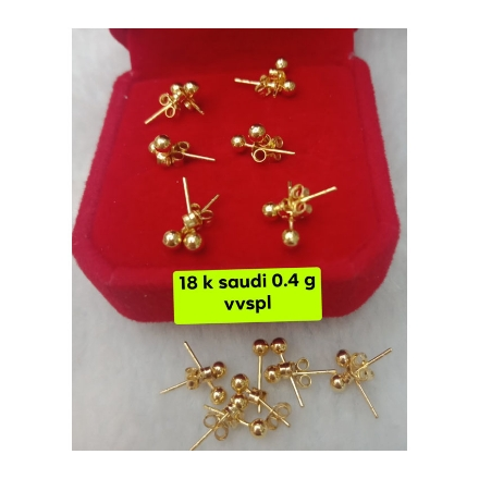 Picture of 18K - Saudi Gold Jewelry, Earrings 0.4g- SE0.4G