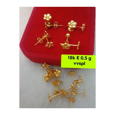 Picture of 18K - Saudi Gold Jewelry, Earrings 0.5g- SE0.5G