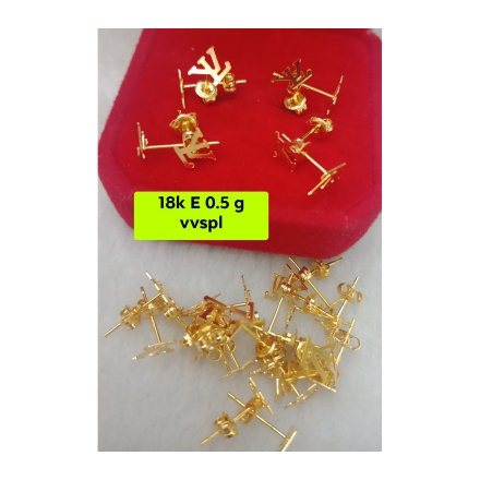 Picture of 18K - Saudi Gold Jewelry, Earrings 0.5g- SE0.5G1