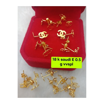 Picture of 18K - Saudi Gold Jewelry, Earrings 0.5g- SE0.5G3