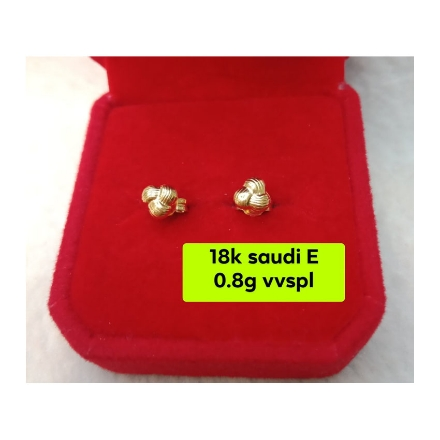 Picture of 18K - Saudi Gold Jewelry, Earrings 0.8g- SE0.8G1