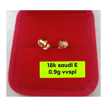Picture of 18K - Saudi Gold Jewelry, Earrings 0.9g- SE0.9G1