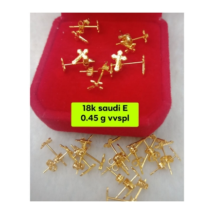 Picture of 18K - Saudi Gold Jewelry, Earrings 0.45g- SE0.45G