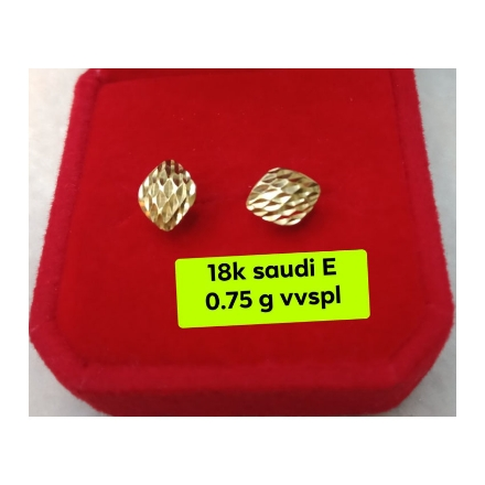 Picture of 18K - Saudi Gold Jewelry, Earrings 0.75g- SE0.75G