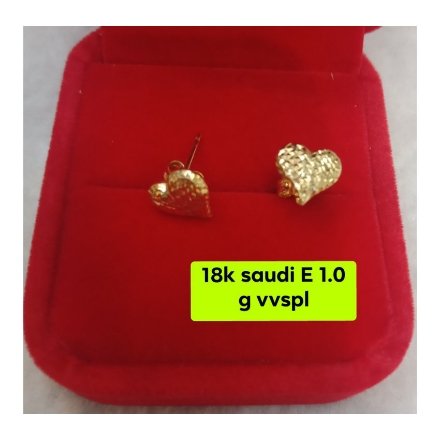 Picture of 18K - Saudi Gold Jewelry, Earrings 1.0g- SE1.0G