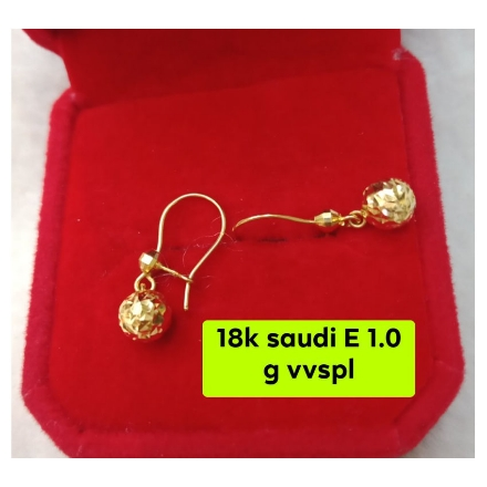 Picture of 18K - Saudi Gold Jewelry, Earrings 1.0g- SE1.0G2