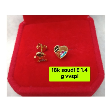 Picture of 18K - Saudi Gold Jewelry, Earrings 1.4g- SE1.4G1