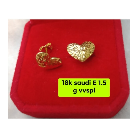 Picture of 18K - Saudi Gold Jewelry, Earrings 1.5g- SE1.5G