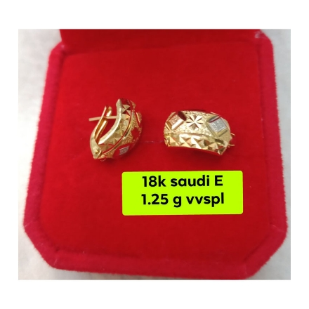 Picture of 18K - Saudi Gold Jewelry, Earrings 1.25g- SE1.25G
