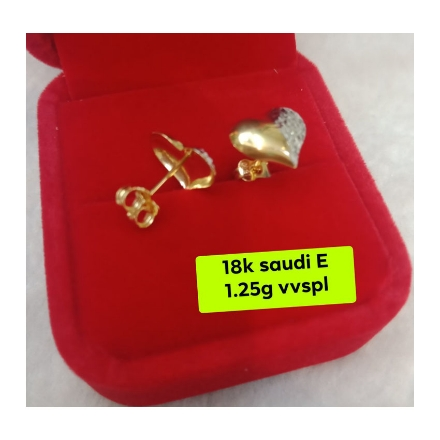 Picture of 18K - Saudi Gold Jewelry, Earrings 1.25g- SE1.25G1