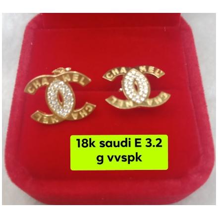 图片 18K - Saudi Gold Earrings 3.2g- SE3.2G