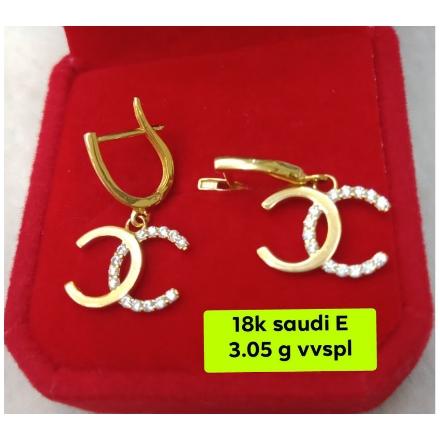 图片 18K - Saudi Gold Earrings 3.05g- SE3.05G