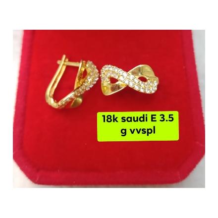 图片 18K - Saudi Gold Earrings 3.5g- SE3.5G
