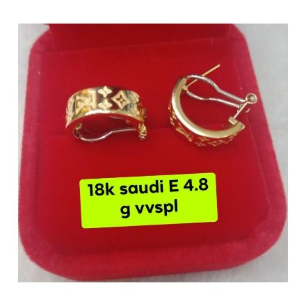 图片 18K - Saudi Gold Earrings 4.8g- SE4.8G