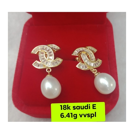 Picture of 18K - Saudi Gold Earrings 6.41g- SE6.41G