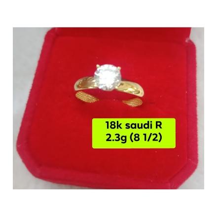 图片 18K - Saudi Gold Ring - SR2.3G-8 1/2
