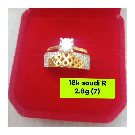 图片 18K - Saudi Gold Ring-  SR2.8G-7-1