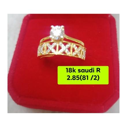 图片 18K - Saudi Gold Ring-  SR2.85G-8 ½