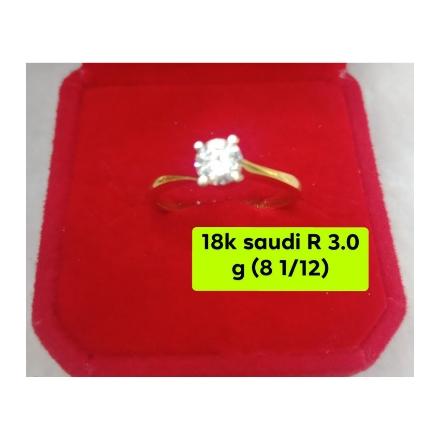 图片 18K - Saudi Gold Ring-  SR3.0G-8½