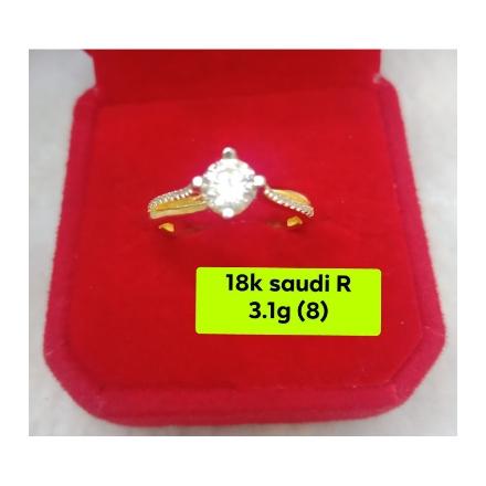 图片 18K - Saudi Gold Ring-  SR3.1G-8