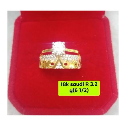 图片 18K - Saudi Gold Ring-  SR3.2G-6½