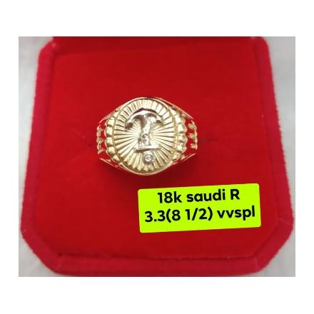 图片 18K - Saudi Gold Ring-  SR3.3G-8½