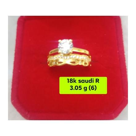 图片 18K - Saudi Gold Ring-  SR3.05G-6