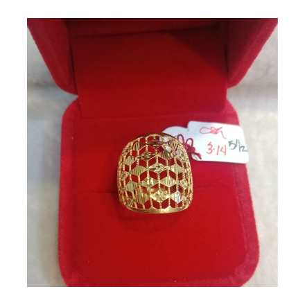 图片 18K - Saudi Gold Ring-  SR3.14G-5½