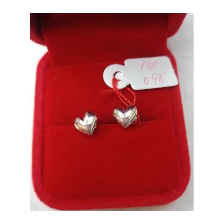 Picture of 18K - Saudi White Gold Earrings 0.98g- SE098G