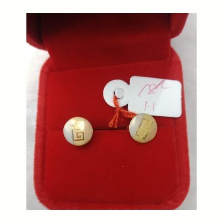 图片 18K - Saudi Gold Earrings 1.1g- SE11G