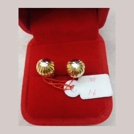 图片 18K - Saudi Gold Earrings 1.6g- SE16G