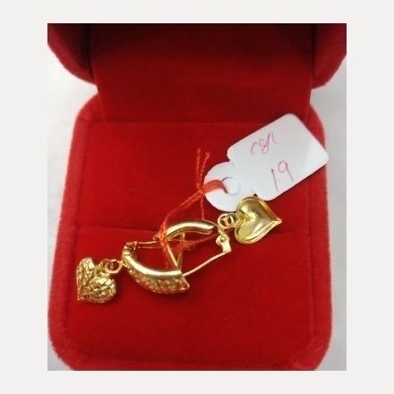 图片 18K - Saudi Gold Earrings 1.9g- SE19G