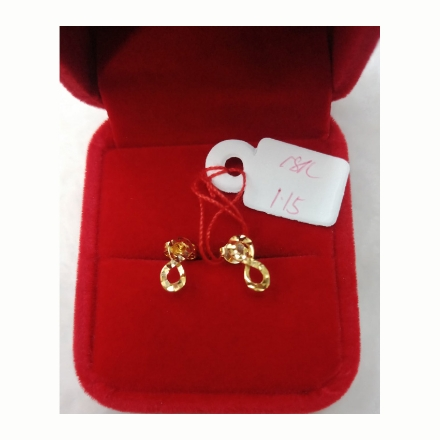 图片 18K - Saudi Gold Earrings 1.15g- SE115G