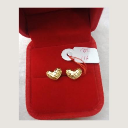 图片 18K - Saudi Gold Earrings 1.16g- SE116G