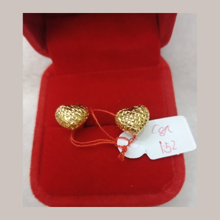 图片 18K - Saudi Gold Earrings 1.52g- SE152G