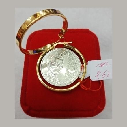 图片 18K - Saudi Gold Earrings 2.62g- SE262G