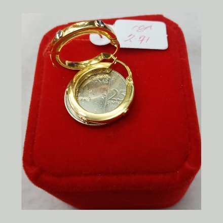 图片 18K - Saudi Gold Earrings 2.71g- SE271G