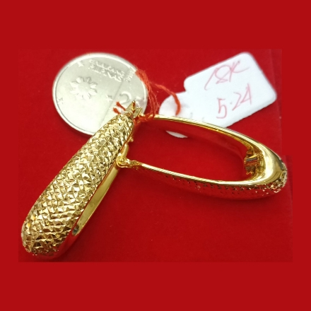 图片 18K - Saudi Gold Earrings 5.24g- SE524G