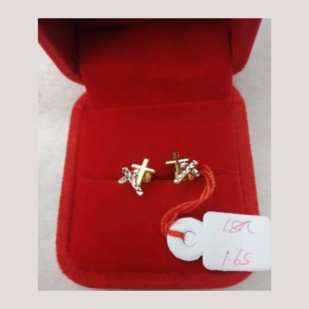 图片 18K - Saudi Gold Earrings 1.65g- SE165G